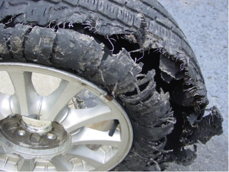 Dangerous tyres cause blowouts